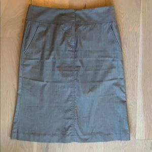Dove grey Theory pencil skirt
